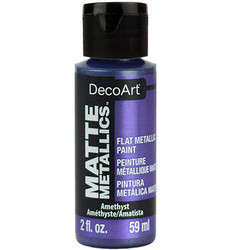 DecoArt Matte Metallics -maali, sävy Amethyst