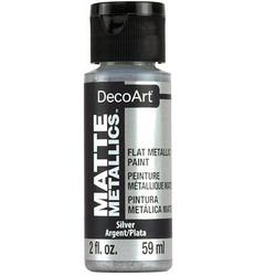 DecoArt Matte Metallics -maali, sävy Silver