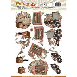 Yvonne Design Vintage Objects 3D-kuvat Vintage Music