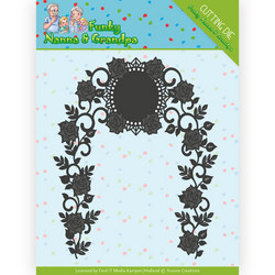 Yvonne Creations Funky Nanna's stanssi Floral Arch