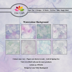 Dixi Craft Watercolour Background -paperipakkaus