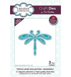 Creative Expressions Triple Layer stanssisetti Dragonfly