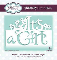 Creative Expressions Paper Cuts 3D stanssi It's A Girl Edger