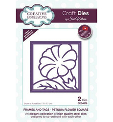 Creative Expressions Frames and Tags stanssisetti Petunia Flower Square