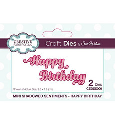 Creative Expressions Mini Shadow Sentiments stanssisetti Happy Birthday