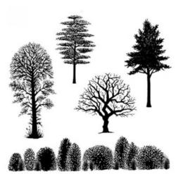 Lavinia Stamps leimasinsetti Tree Scene