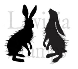 Lavinia Stamps leimasinsetti Woodland Hares