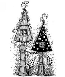 Lavinia Stamps leimasin Fairy House