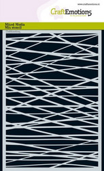 CraftEmotions sapluuna Lines Grid Crosswise