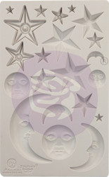 Prima Finnabair Decor Mould -muotti Stars and Moons