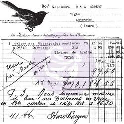 Prima Finnabair leimasin Old Receipt