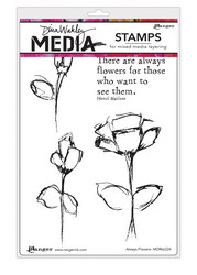 Dina Wakley Media leimasinsetti Always Flowers