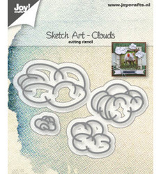 Joy! Crafts stanssisetti Sketch Art Clouds