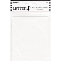 Ranger Letter It -kartonki, valkoinen, A2