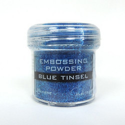 Ranger Embossing Powder -kohojauhe, sävy Blue Tinsel