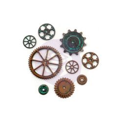 Finnabair Mechanicals Metalli koristeet, Machine Parts, 9 kpl