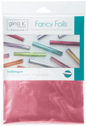 Gina K. Designs Fancy Foils -folio, sävy Bubblegum, 12 arkkia
