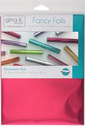 Gina K. Designs Fancy Foils -folio, sävy Passionate Pink, 12 arkkia