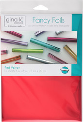 Gina K. Designs Fancy Foils -folio, sävy Red Velvet, 12 arkkia