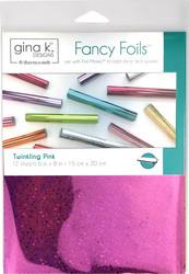 Gina K. Designs Fancy Foils -folio, sävy Twinkling Pink, 12 arkkia