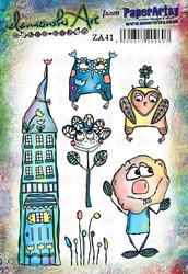 PaperArtsy Elenazinski Art leimasinsetti 41