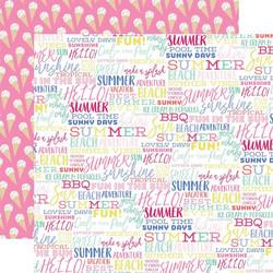 Echo Park Best Summer Ever skräppipaperi Summer Words