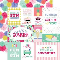Echo Park Best Summer Ever skräppipaperi Multi Journaling Cards