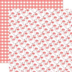 Echo Park Best Summer Ever skräppipaperi Flamingos