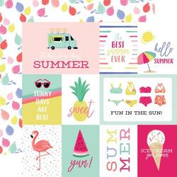 Echo Park Best Summer Ever skräppipaperi Journaling Cards