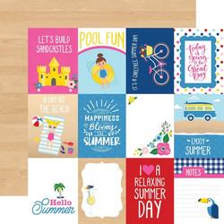 Echo Park I Love Summer skräppipaperi 3x4 Journaling Cards