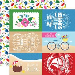 Echo Park I Love Summer skräppipaperi 4x6 Journaling Cards