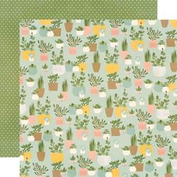 Simple Stories Spring Farmhouse skräppipaperi Plant Smiles