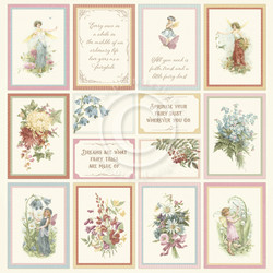 Pion Design Images From The Past skräppipaperi Four Seasons of Fairies I