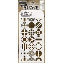 Tim Holtz Patchwork Circle -sapluuna