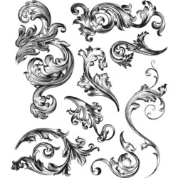 Stampers Anonymous, Tim Holtz leimasinsetti Scrollwork