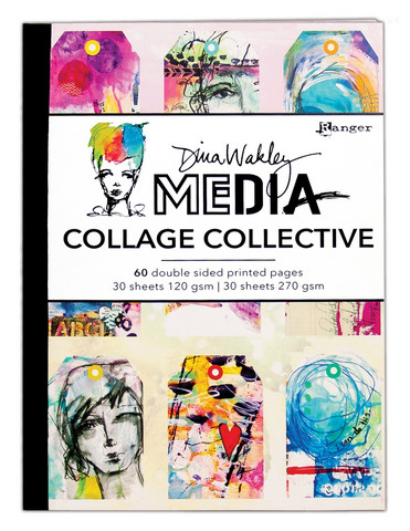 Dina Wakley Media Mixed Media Collage Collective -paperipakkaus