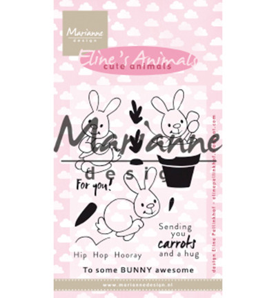 Marianne Design Eline's Cute Animals, Bunnies -leimasinsetti