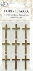 Koristetarra Risti, kulta, metalli