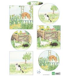 Marianne Design Tiny's cats -korttikuvat