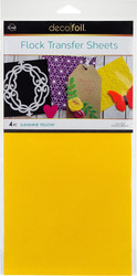 Deco Foil Flock Transfer Sheets -arkit, Sunshine Yellow
