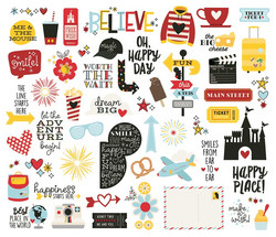 Simple Stories Say Cheese Bits & Pieces Die-Cuts, leikekuvat, 54 kpl