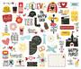 Simple Stories Say Cheese Bits & Pieces Die-Cuts, leikekuvat, 54 kpl