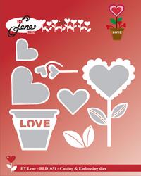 By Lene Dies stanssisetti Love Flower