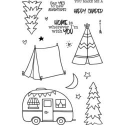 Jane's Doodles Happy Camper -leimasinsetti