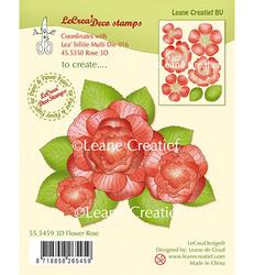 Leane Creatief leimasinsetti 3D Rose