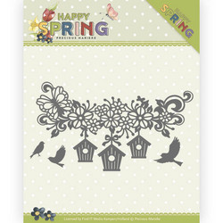 Precious Marieke Happy Spring stanssisetti Happy Birdhouses