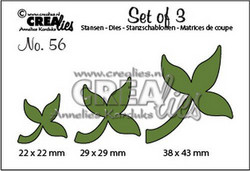 Crealies Set of 3 stanssisetti Leaves 10
