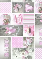 Kuviokartonki Vauva, vaaleanpunainen