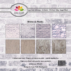 Dixi Craft Bricks and Planks -paperipakkaus