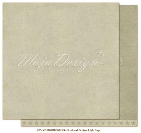 Maja Design Monochromes Shades of Denim skräppipaperi, sävy Light sage